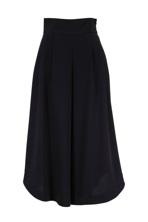 See by Chloé Black Wide Waist Culotte