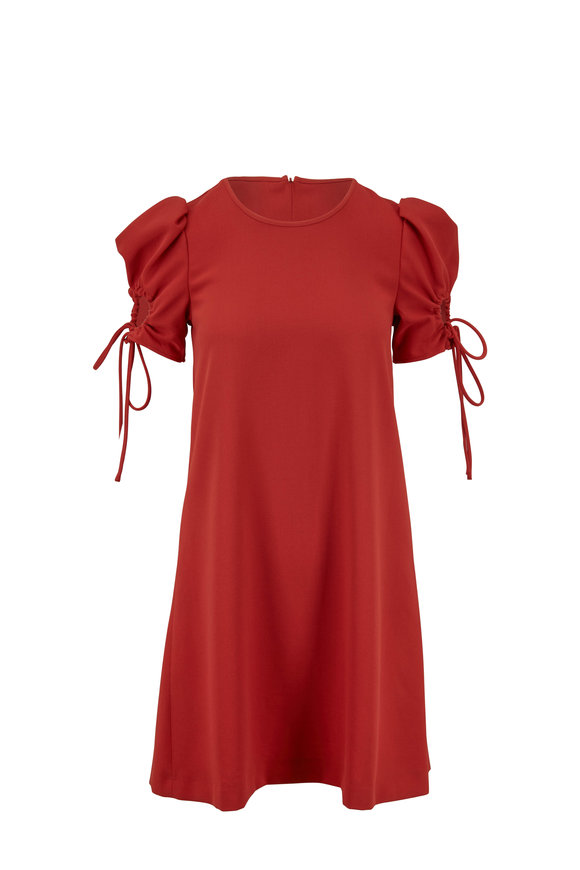 See by Chloé Peppery Red Keyhole Sleeve Dress