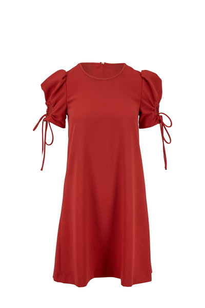 See by Chloé - Peppery Red Keyhole Sleeve Dress