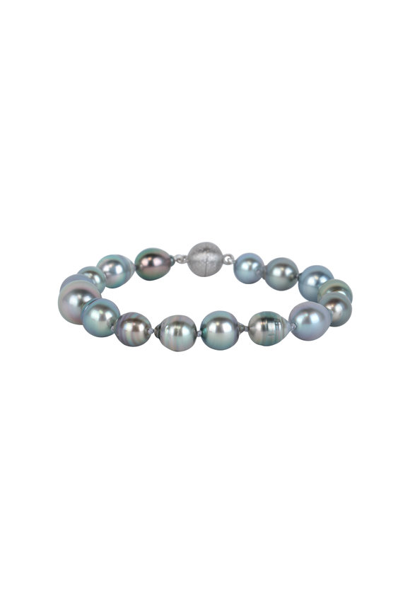 Cairo Sterling Silver Multicolor Tahitian Pearl Bracelet