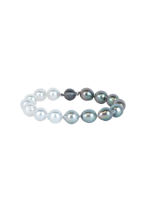 Cairo Sterling Silver Tahitian Pearl Bracelet