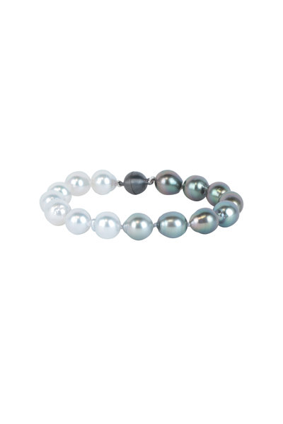 Cairo - Sterling Silver Tahitian Pearl Bracelet