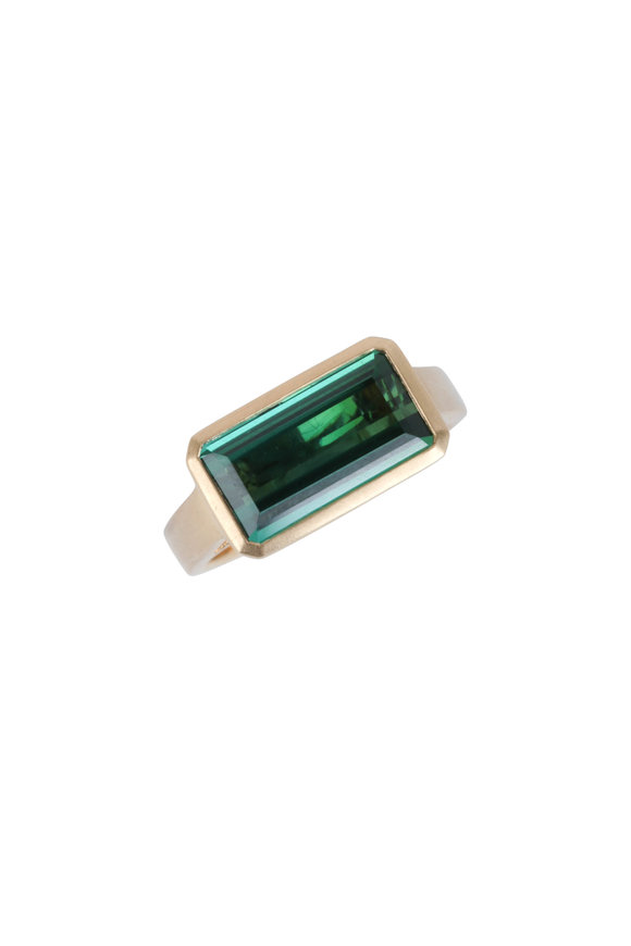 Cairo 18K Yellow Gold Green Tourmaline Ring