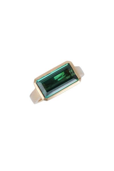 Cairo - 18K Yellow Gold Green Tourmaline Ring