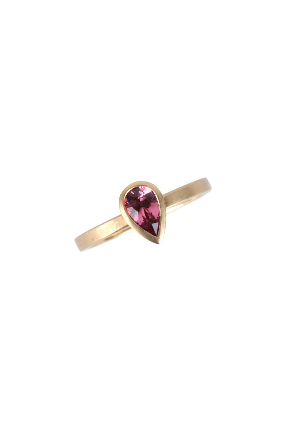 Cairo 18K Gold Pink Sapphire Band Ring