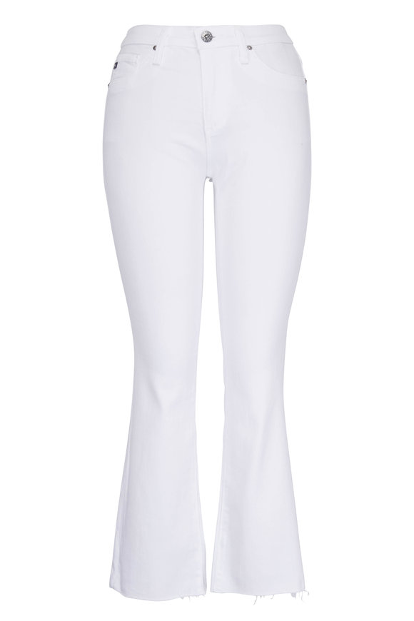 AG - Adriano Goldschmied Jodi White High-Rise Crop Flare Jean