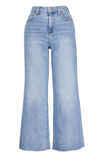 7 For All Mankind - Alexa Flora Cropped Trouser Raw Hem Jean