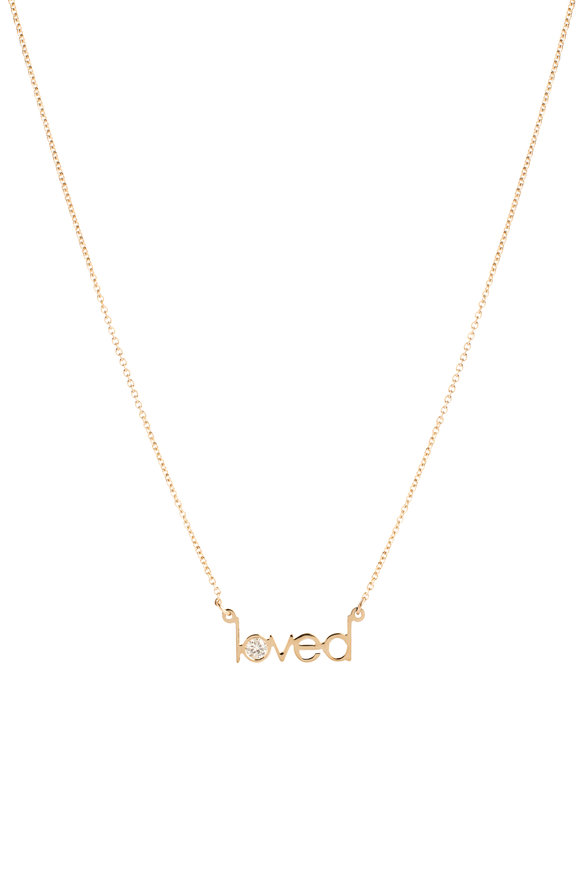 Genevieve Lau 14K Yellow Gold Diamond O Loved Necklace