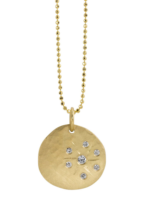 Julez Bryant 18K Yellow Gold Skye Small Smasher Pendant