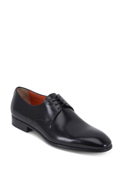 Santoni - Induct Simon Black Leather Oxford