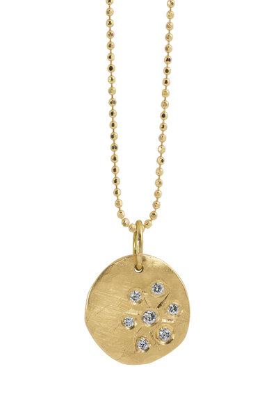 Julez Bryant - 14K Yellow Gold Starburst Smasher Pendant