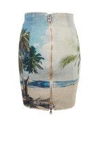 Balmain - Multicolor Palm Tree Printed High-Waist Skirt