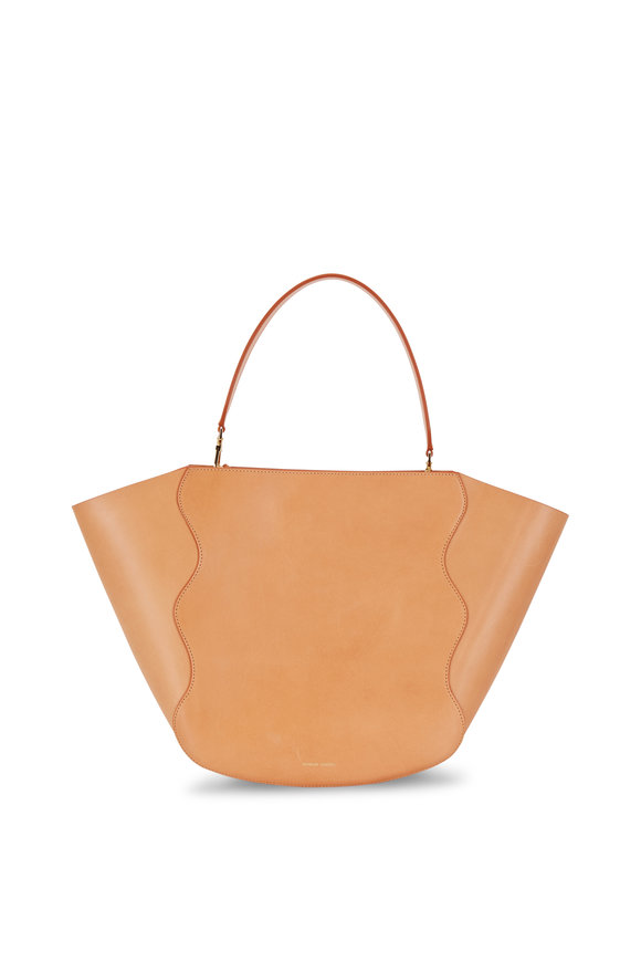 Mansur Gavriel Cameo & Rosa Tanned Leather Scallop Detail Tote