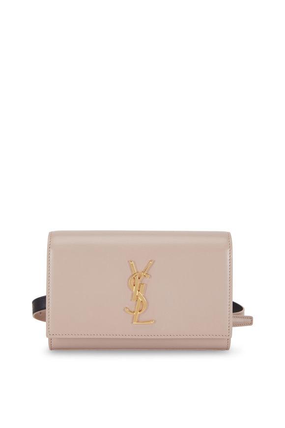 Saint Laurent Kate Natural Leather Belt Bag