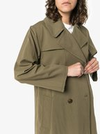 Nili Lotan - Benning Army Green Belted Trench Coat
