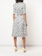 Carolina Herrera - White & Black Polka Dot Silk Dress