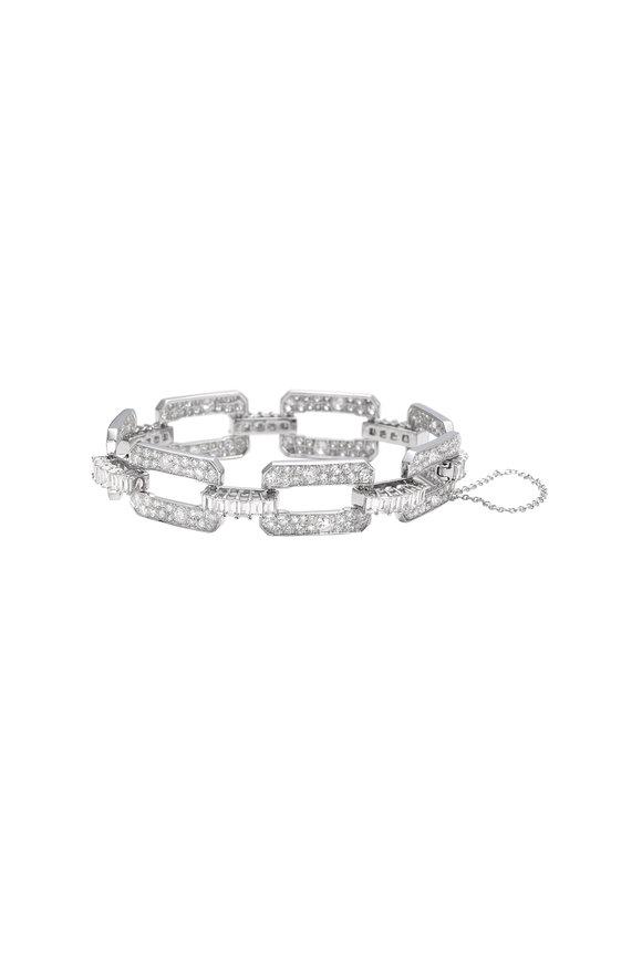 Nam Cho 18K White Gold Diamond Link Bracelet