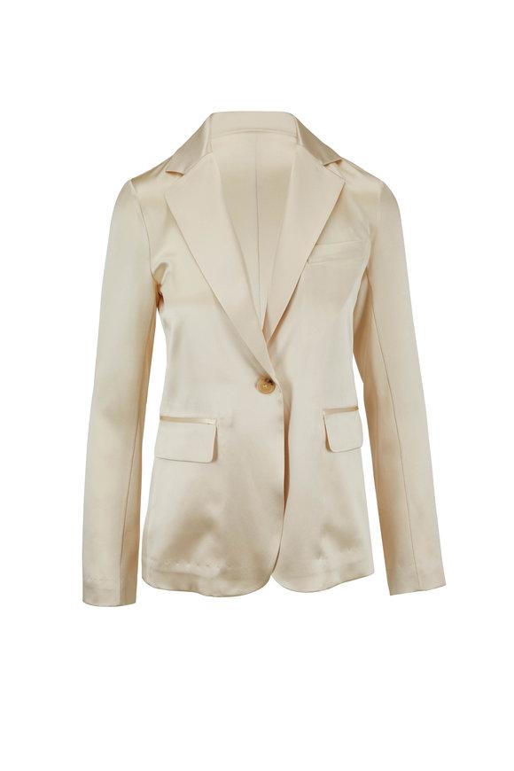 Nili Lotan Sophia Dune Satin Single Button Jacket