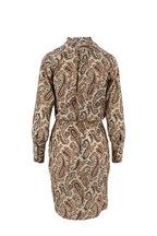 Nili Lotan - Leora Black & Beige Paisley Silk Dress