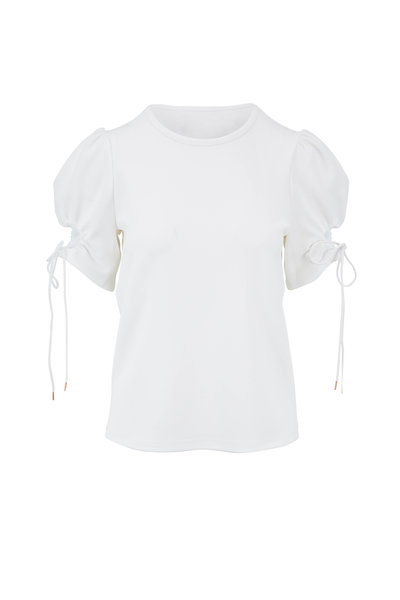 See by Chloé - White Keyhole Sleeve Blouse