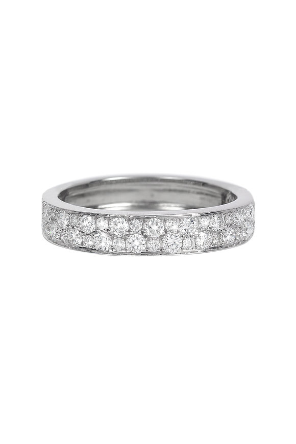 Nam Cho 18K White Gold Modern Diamond Band
