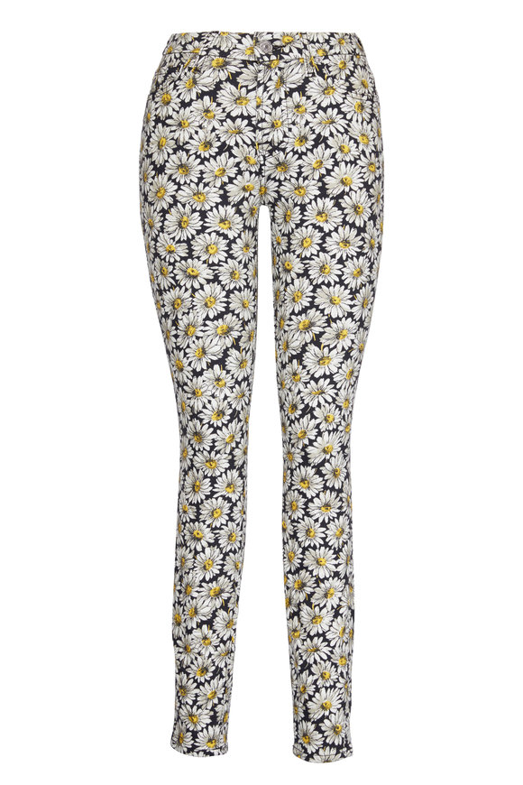 7 For All Mankind Ankle Skinny Lazy Daisies Jean