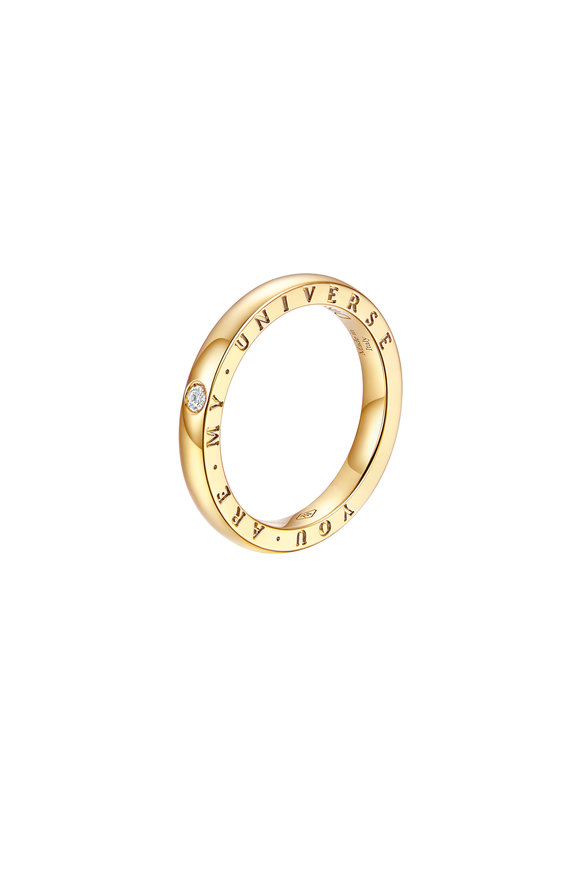 Alberto Milani 18K Yellow Gold Diamond Dirce Wedding Band, 2.5mm