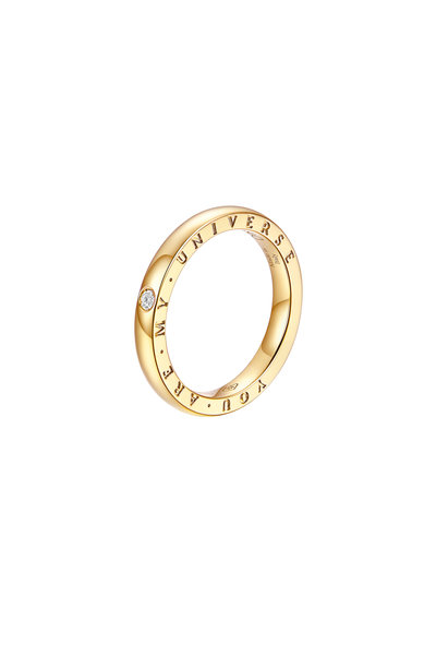 Alberto Milani - 18K Yellow Gold Diamond Dirce Wedding Band, 2.5mm