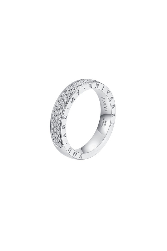 Alberto Milani 18K White Gold Diamond Dirce Wedding Band, 4.3mm