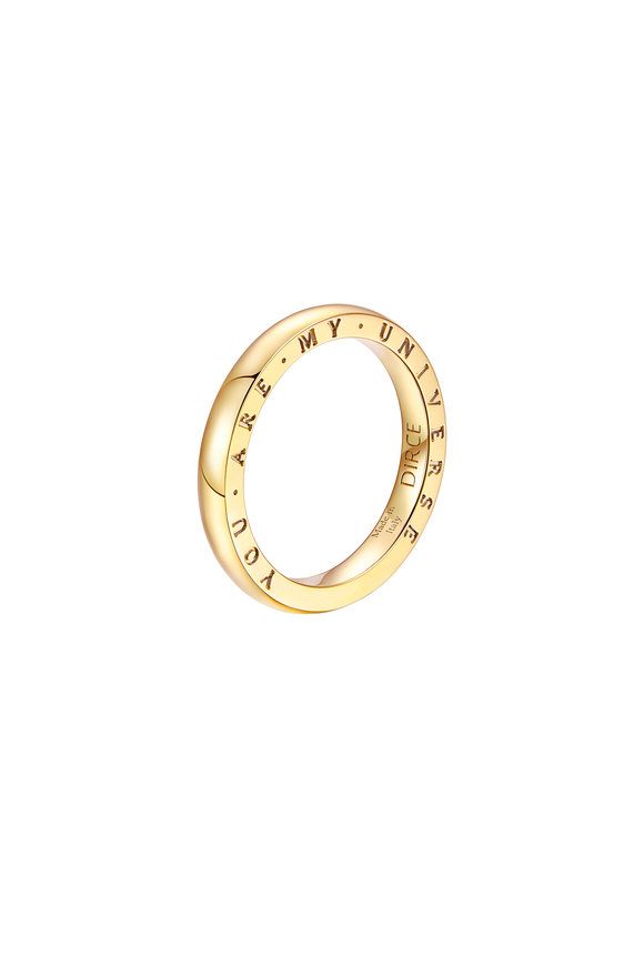 Alberto Milani 18K Yellow Gold Plain Dirce Wedding Band, 2.5mm