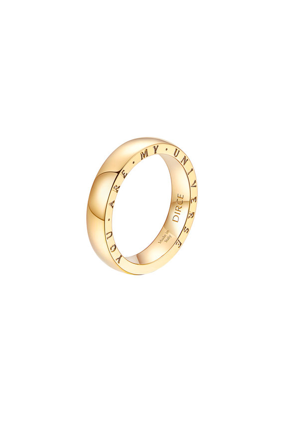 Alberto Milani 18K Yellow Gold Plain Dirce Wedding Band, 4.3mm