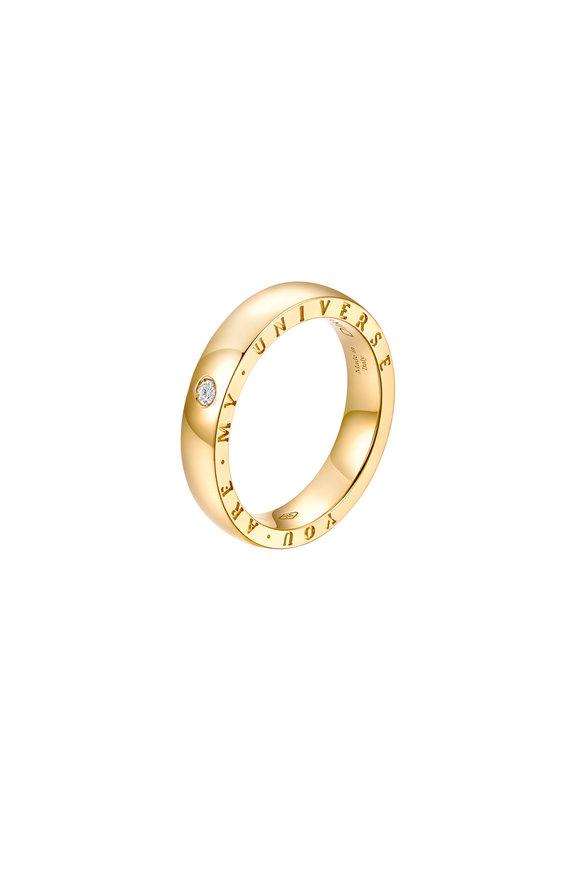 Alberto Milani 18K Yellow Gold Single Diamond Dirce Wedding Band