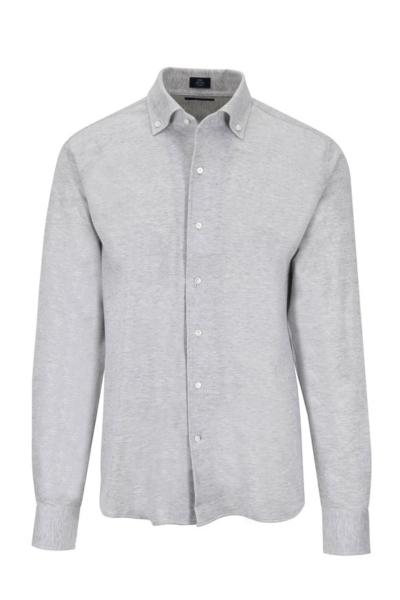 Peter Millar Summer Mesh Gray Jersey Knit Shirt