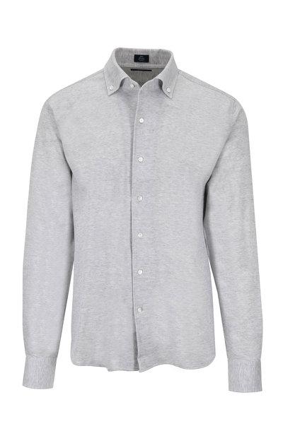 Peter Millar - Summer Mesh Gray Jersey Knit Shirt