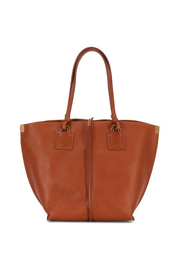 Chloé Vick Caramel Leather Medium Tote