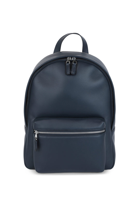Dunhill Navy Blue Leather Rucksack