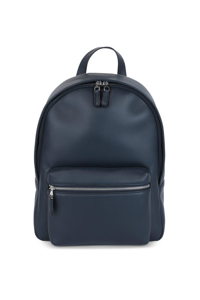 Dunhill - Navy Blue Leather Rucksack