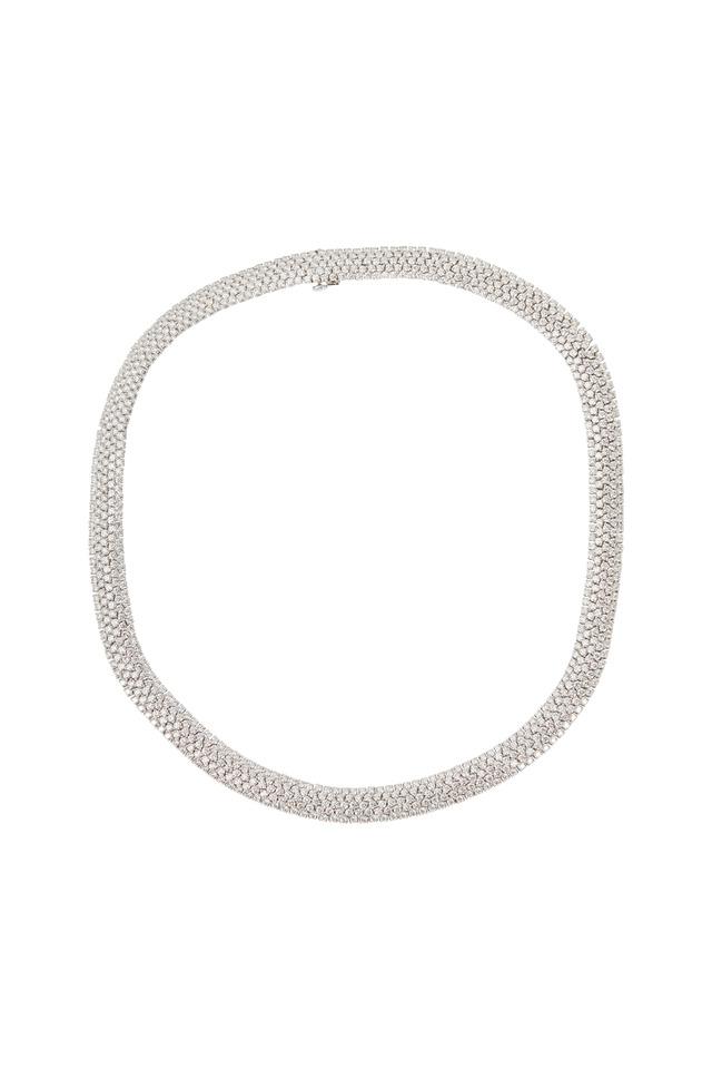 Moonlight White Gold White Diamond Choker Necklace