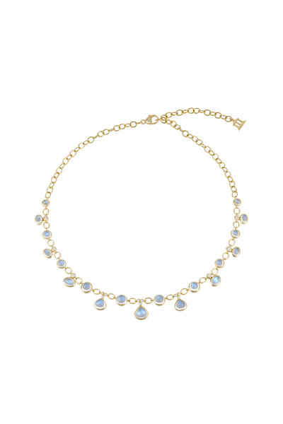Temple St. Clair - 18K Gold Moonstone & Diamond Half Bib Necklace