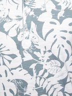 Michael Bastian - Ash Blue & White Floral Printed Polo