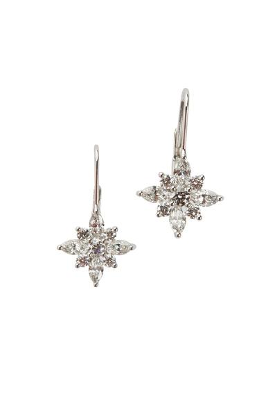Kwiat - Star Platinum & White Gold Diamond Earrings