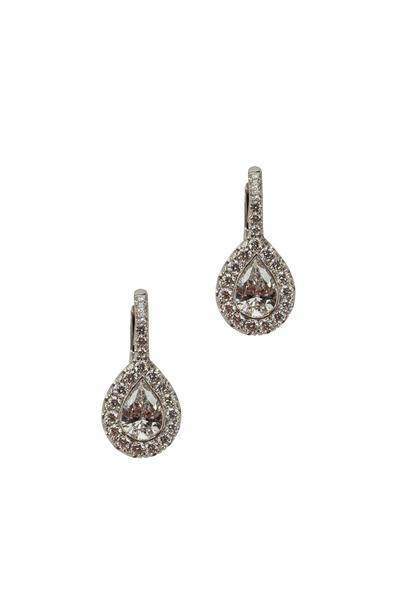 Kwiat - Silhouette Platinum & White Gold Diamond Earrings
