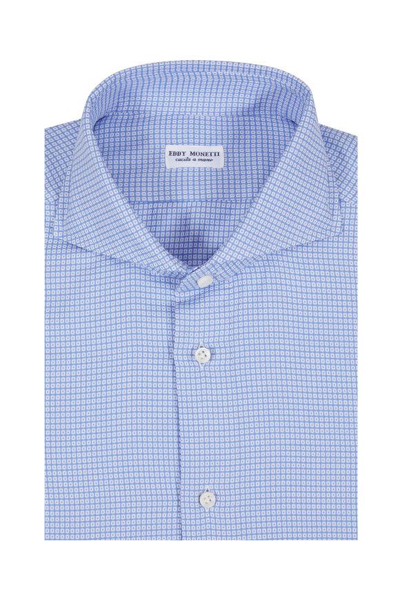 Eddy Monetti Light Blue Textured Sport Shirt