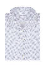 Eddy Monetti - Light Blue & Yellow Floral Linen Sport Shirt