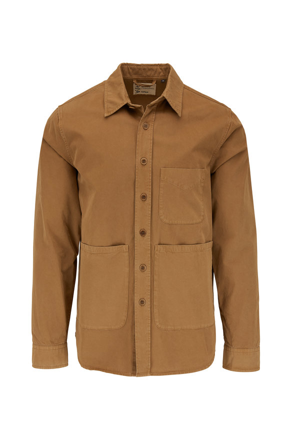 Aspesi Tan Cotton Shirt Jacket