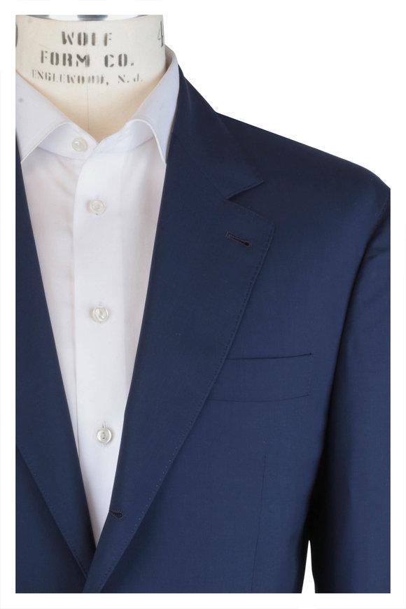 Brunello Cucinelli Solid Navy Wool & Silk Travel Suit