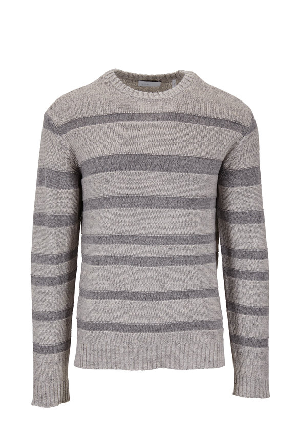 BLDWN Gilpin Light Gray Melange Stripe Pullover