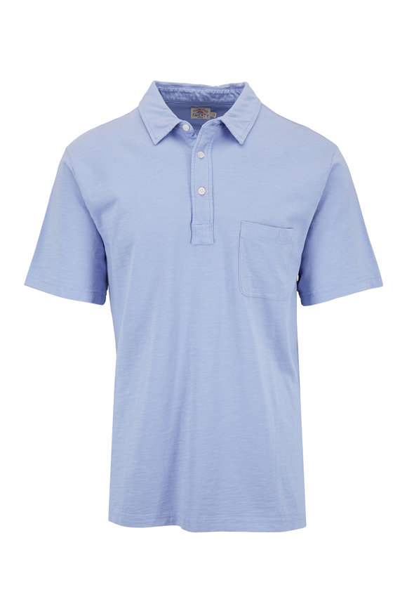 Faherty Brand Lilac Sunwashed Short Sleeve Pocket Polo