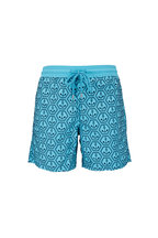Vilebrequin - Moorea Blue Anchors Swim Trunks