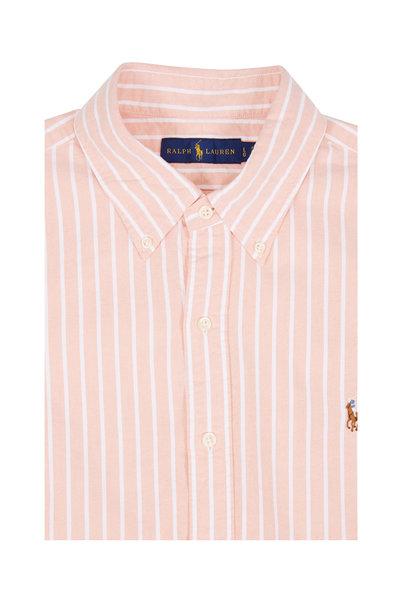 Polo Ralph Lauren - Orange & White Striped Cotton Sport Shirt